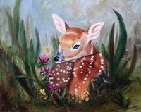 Fawn Innocence Original Oil Painting