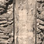 """Old Wood Door and Stone Sepia  BW"" by lightningman"