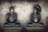Two statues of Buddha are discussed