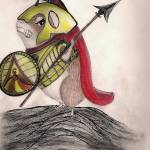 """Guinea Pig Spartan"" by inkydreamz"