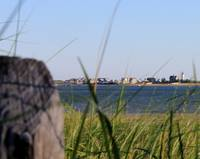 Across Barnstable Harbor to Sandy Neck Light