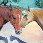 """Horses Jake and Duster"" by BeaconArtWorksCorporation"