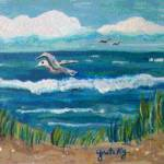"""Beach Scene"" by paintingsbygretzky"