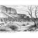 """Kennedy Range, Gascoyne, Western Australia"" by kimwainwright"