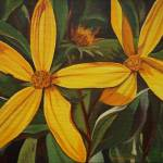 """""""Yellow Flowers"""" by LisasOils"""