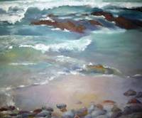 Seascape with incoming tide.