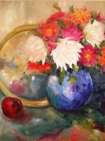 Floral stillife bursting with colour.
