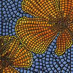 """mosaic - ""California Poppy"", swirl"" by kinnally"