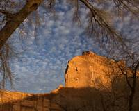 Sandstone Cliff at Sunset