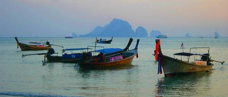 Boats in Krabi