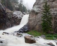 Boulder Falls in the Fog - 2