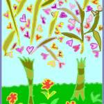 """Heart Trees"" by missnancysart4u"