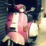 """Pink Motorbike"" by pixelzero"