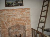 Brick Fireplace in the Living quarters