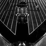 """Chris-Craft Foredeck Detail in Black and White"" by McallenPhotography"