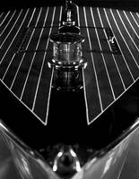 Chris-Craft Foredeck Detail in Black and White
