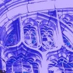 """Tracery in Purple at Bond Chapel"" by LeonSarantosArtist"