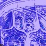 """Tracery in Purple at Bond Chapel"" by LeonSarantosArtist"