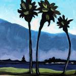 """Three Palm Trees"" by ElizaArt"