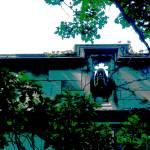"""Waterspout on Bond Chapel - University of Chicago"" by LeonSarantosArtist"