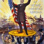 """1896 POLITICAL POSTER"" by homegear"