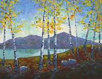 Birch at the Lake