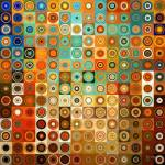 """Circles and Squares #1- Modern Art"" by MarkLawrence"