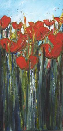 Tall Scarlet Poppies