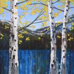 """Three Birch Lake"" by DreamGallery"