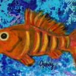 """Gold Striped Fish"" by paintingsbygretzky"