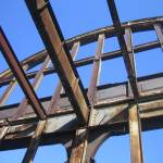 """Structure on Hudson Pier"" by pfguiney"