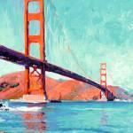Golden Gate Bridge San Francisco by RD Riccoboni