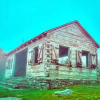 mt mitchell cabin by Alexandr Grichenko
