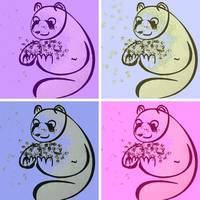 Panda Bears Pop Art