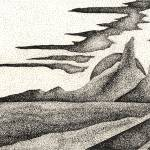 """Pen & Ink Fine Art Of A Southwestern Landscape"" by drawingwithdots"