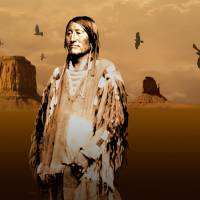 Portrait of an Indian Crow Chief by I.M. Spadecaller