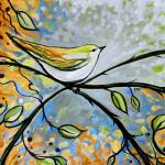 """Yellow Bird Among Sage Twigs"" by ElizaArt"