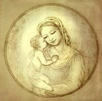 M 17 Madonna with kissing child