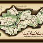 """Cumberland Homesteads Map"" by Vicki_S_Vaden"
