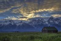 The Grand Tetons At Sunset