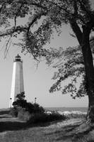 Summer Lighthouse BW