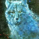 """blue wolf"" by barbaralemley"