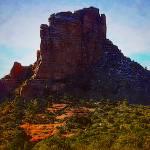 """""""Sedona Mesa Painting"""" by bluejawa"""