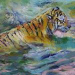 """Tiger Reflections"" by creese"
