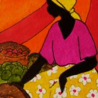 Copy of nakasero market Art Prints & Posters by Tessa Edwards
