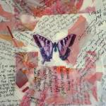 """Graffiti Butterfly Art with Words Text and Random"" by klaart"