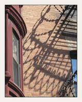 Urban City Boston Iron Railing Shadow