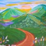 """Three Colorful hills"" by elajanus"