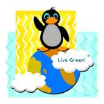 """Live Green Penguin"" by theblueplanet"