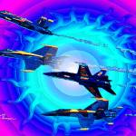 """Blue Angels four  break"" by jt85"